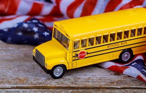 Bus jaune aux États-Unis