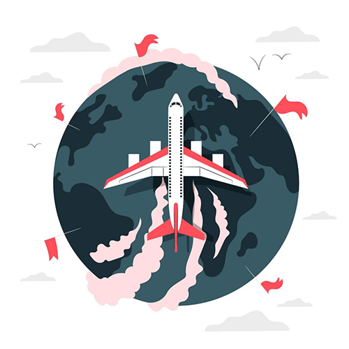 Famille d'accueil avion